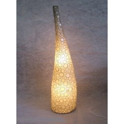 LS006362 Disc Capiz Flr Lamp
