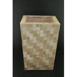 AW209508 Abaca / Fiberglass Sq. Vase