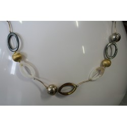 XN-010 Shl &Balls Necklace