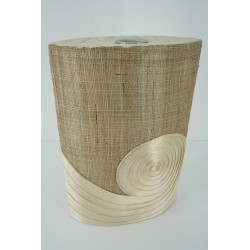 AW201526 abaca vase with burlap design