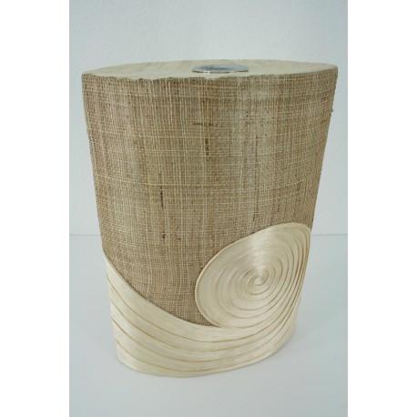 AW201526 abaca vase with burlap design