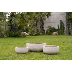 71-04400-S3-01 Rd. Poly cobble stone 3er Set